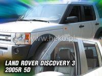 Plexi, deflektory bočných skiel Land Rover Discovery III 5D 2005r =>, 4ks přední+zadní