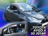 Plexi, deflektory bočných skiel Toyota Aygo II 3D 2014r =>