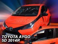 Plexi, deflektory bočných skiel Toyota Aygo II 5D 2014r =>