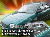 Plexi, deflektory bočných skiel Toyota Corolla E11 4D 1997-2001r sedan, 4ks přední+zadní