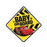 Dieťa v aute na prísavku Cars Blesk Mcqueen 12,5 x 12,5 cm