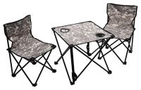 Kempingový set stôl + stoličky VERONA 3ks, kamufláž maskáčová