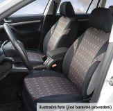 Autopotahy JACK III černo-šedé Univerzální na auto s atestem na airbag, zipem dělená lavice Compass