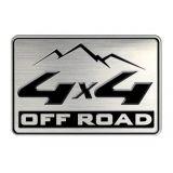 Hliníková nálepka nadpis Off road 4x4, 44 x 63 mm