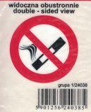 SAMOLEPÍCÍ DEKORY zákaz kouření kulatá taxi