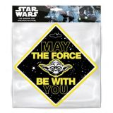 Dekor na prísavku Star Wars yoda 13 x 13 cm