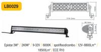 LED panel 240W, 1119 mm, reflektor