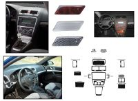 Samolepiace dekory palubnej dosky mahagon Škoda Octavia II od 05.2004r =>, 15 dielov