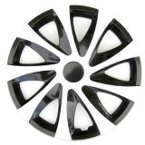 Ozdobné kryty kolies biela 15'' DRACO CS White Black, 4ks