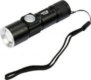 Celokovová LED svietidlo XT-E CREE 5W USB, 350 lm, Li-ion, do 150m