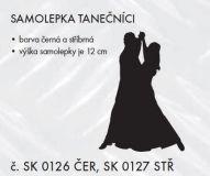 SAMOLEPÍCÍ DEKOR sport Tanečníci 12cm černá, stříbrná