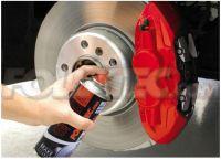OMP farba červená pre lakovanie výfukových, motorových alebo brzdových systémov 400 ml