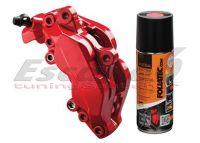 FOLIATEC dvojzložková farba na brzdy sprej červená (Racing rosso)