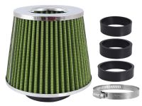Filter vzduchový zelený / chróm UNI 155x130x120mm, adaptér 60,63,70mm, 86008