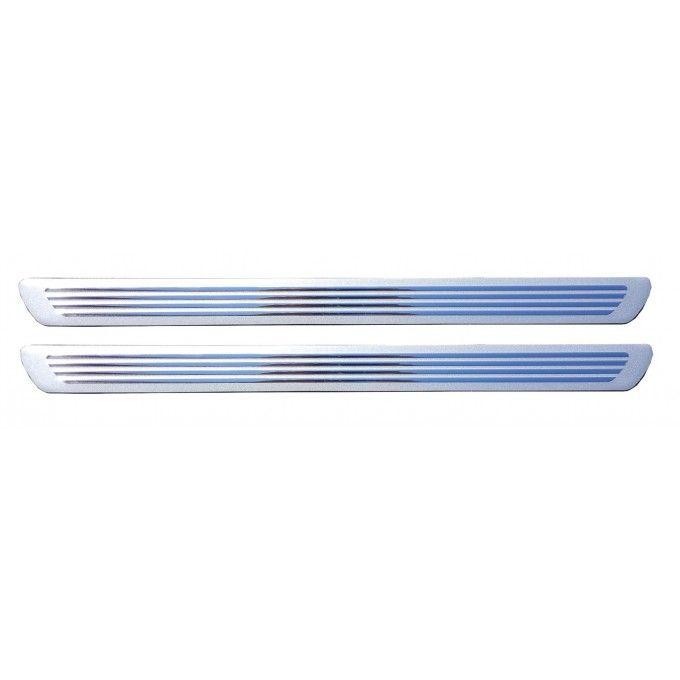 Hlinikové prahové lišty na ochranu prahů čáry stříbrná 2ks 4 x 54 cm AVISA