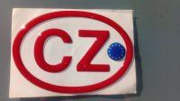 Samolepka znak CZ EU 3D červená vlajka EU 12,5 x 8,5cm