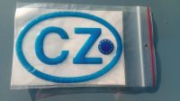 Samolepka znak CZ EU 3D modrá vlajka EU 12,5 x 8,5cm
