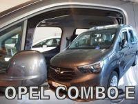 Protiprůvanové plexi Opel Combo E 2018r =>, 2ks přední