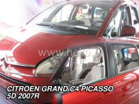 Plexi, ofuky Citroen C4 Grand Picasso 5dv. 2007r =>, přední + zadní sada 4ks HDT