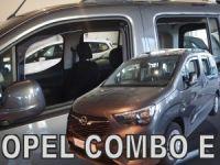 Protiprůvanové plexi Opel Combo E 2018r =>, 4ks přední + zadní