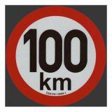 Reflexná samolepka 100km obmedzenia rýchlosti priem. 20 cm