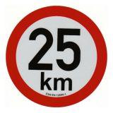 Reflexná samolepka 25km obmedzenia rýchlosti priem. 20 cm