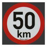 Reflexná samolepka 50km obmedzenia rýchlosti priem. 20 cm