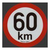 Reflexná samolepka 60km obmedzenia rýchlosti priem. 20 cm
