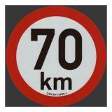 Reflexná samolepka 70km obmedzenia rýchlosti priem. 20 cm