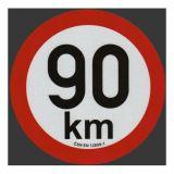 Reflexná samolepka 90km obmedzenia rýchlosti priem. 20 cm