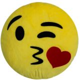 Polštář do auta Smajlík Kiss Žlutý 100% Polyamid