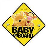 Dieťa v aute na prísavku Medvídek Pú 13 x 13 cm