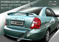 Zadní spoiler křídlo pro HYUNDAI Accent sedan 2005 =>