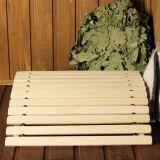 Lipový drevený podhlavník anatomický tvarovaný do sauny, kúpele, velký 45 x 35 x 12 cm