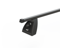 Strešný nosič ŠKODA FABIA II 5dv hatchback, čierna Fe tyč