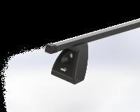Strešný nosič ŠKODA OCTAVIA II 5dv hatchback s fixačným bodom, čierna Fe tyč