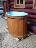 Ochladzovacia kaďa k saune s kompozitný vložkou (modrá), Thermowood, 68x130cm