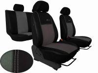 Autopoťahy na mieru Volkswagen Multivan T4, 3 místa, EXCLUSIVE kožené s alcantarou, světlešedé