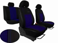Autopoťahy na mieru Volkswagen Multivan T4, 3 místa, EXCLUSIVE kožené s alcantarou, modré