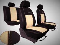 Autopoťahy na mieru Volkswagen Multivan T4, 3 místa, EXCLUSIVE kožené s alcantarou, béžové