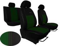 Autopoťahy na mieru kožené Volkswagen Multivan T4, 3 místa, EXCLUSIVE zelené