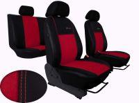 Autopoťahy na mieru Volkswagen Multivan T4, 3 místa, EXCLUSIVE kožené s alcantarou, červené