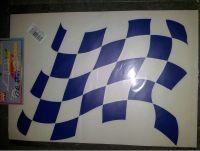 SAMOLEPÍCÍ DEKORY šachovnice tmavě modrá 24x33cm