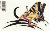 SAMOLEPÍCÍ DEKORY tribal motýl 16x11 cm