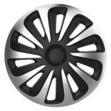 """Kryt kola 16"""" CALIBER Carbon carbon stříbrno černé 4ks"""