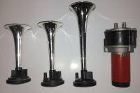 Vzduchové plastové fanfáry s kompresorem 3 tóny 12V AKCE   143392, červená