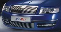 Nerezové Lišty predného nárazníka, Škoda Superb I 2002-2006