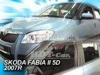 Plexi, ofuky ŠKODA Fabie II htb 4D 2007 =>, přední + zadní