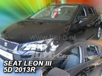 Plexi, ofuky Seat Leon III 2013 =>, sada 4ks přední + zadní