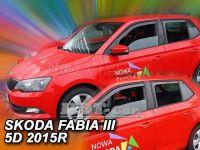 Plexi, ofuky Škoda Fabia III 5D dlouhý 2014r => 4ks přední+zadní